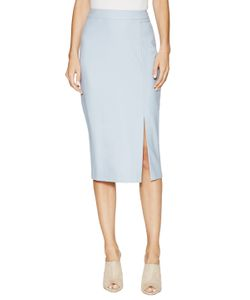 Ji Oh | Wool Side Split Pencil Skirt