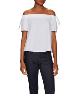 Timo Weiland | Cotton Elasticized Off Shoulder Top