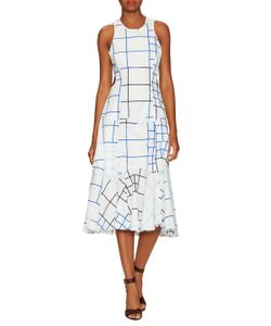 Timo Weiland | Print Cut Out Fit And Flare Dress