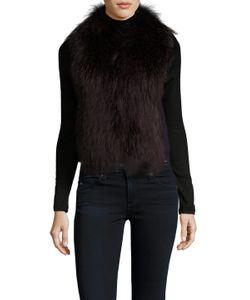 Meteo By Yves Salomon   Gilet Ribbed Fur Collar Vest