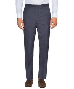 Brooks Brothers | Wool Checke Flat Front Trousers