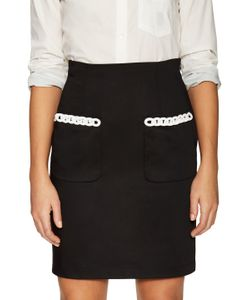 Love Moschino   Embellished Patch Pencil Skirt