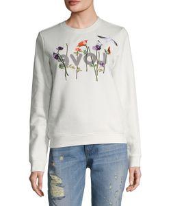 EIGHT DREAMS | Love Flower Embroide Fleece Sweater