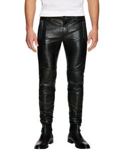 Blk Dnm | Leather Moto Pants