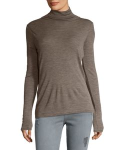 Vince | Wool Ruched Turtleneck Sweater