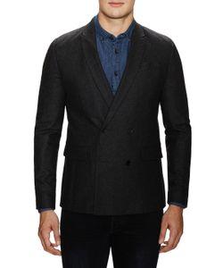 Blk Dnm | Solid Tweed Blazer