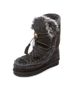 Mou | Eskimo Lace-Up Sheepskin Bootie