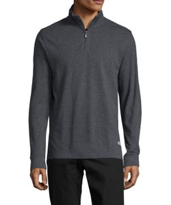 Brooks Brothers | Half Zip Stand Collar Sweater