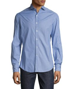 Michael Bastian | Cotton Striped Button Down Sportshirt