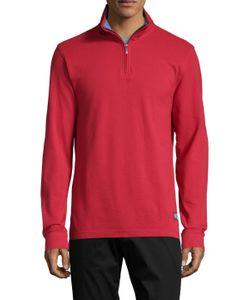 Brooks Brothers | Half Zip Cotton Sweater