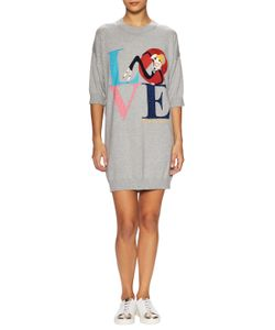 Love Moschino   Love Intarsia Sweater Shift Dress