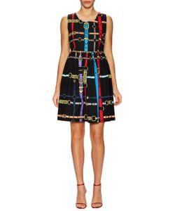 Love Moschino   Belt Printed Flare Dress