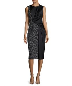Jason Wu | Herringbone Ponte Panel Sheath Dress