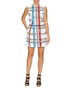Love Moschino   Printed Belt Flare Dress