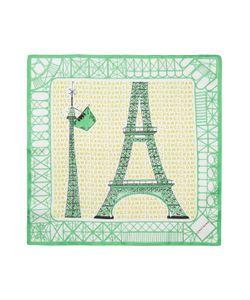 Longchamp | Ma Tour Eiffel Silk Square Scarf 18 X 18
