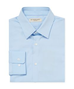 Burberry London | Spread Collar Solid Dress Shirt