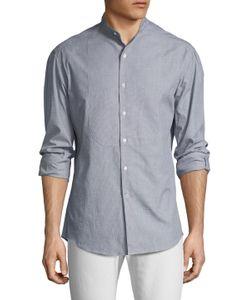 Michael Bastian | Cotton Stand Collar Button Down Sportshirt