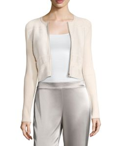 Narciso Rodriguez | Pointelle Zip Front Cardigan