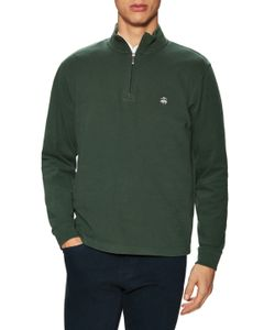 Brooks Brothers | Knit Ribbed 1/2 Zip Top