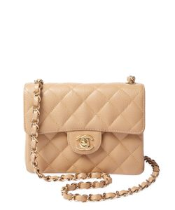Chanel | Vintage Quilted Caviar Classic Flap Mini Square