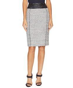 Carolina Herrera   Tweed Zip Skirt