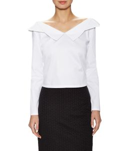 Opening Ceremony | Sateen Cropped Off Shoulder Top