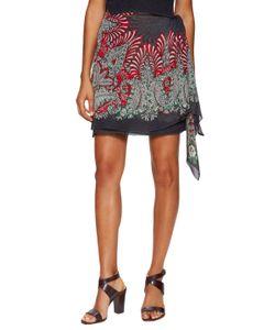 Anna Sui | Feather Folly Print Mesh Jacquard Skirt