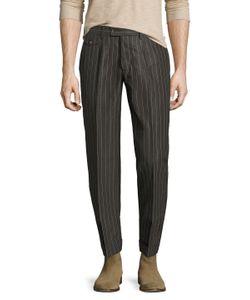 Michael Bastian | Cotton Pinstripe Straight Leg Pant