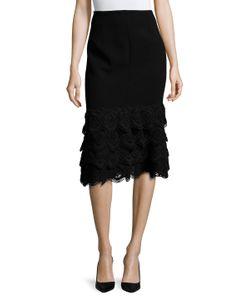 Jonathan Simkhai | Silk Cable Arch Trim Fla Skirt