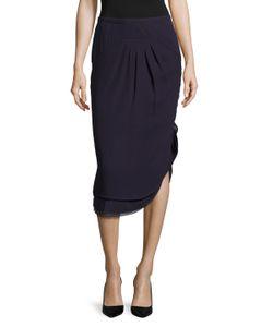 Valentino | Silk Front Dart Asymmetrical Pencil Skirt