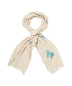 Blumarine | Embroide Butterfly Long Scarf 70 X27