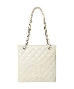 Chanel | Vintage Cream Quilted Caviar Petite Shopper Pst