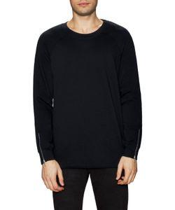 Blk Dnm | Zip Sleeve Crewneck Sweatshirt