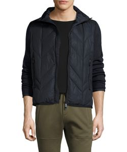 Moncler Grenoble | Quilted Down Zip Front Sweater