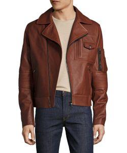 Michael Bastian | Leather Pocketed Jacket