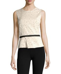 Narciso Rodriguez | Cotton Jacquard Belted Top