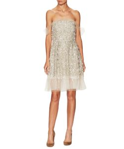 Jenny Packham | Tulle Embellished Fit And Flare Dress