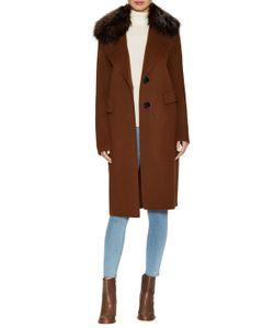 Derek Lam 10 Crosby | Wool Fur Collar Midi Coat