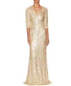 Jenny Packham | Silk Sequin Floor Length Gown