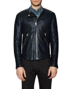 Blk Dnm | Zip Sleeve Leather Jacket