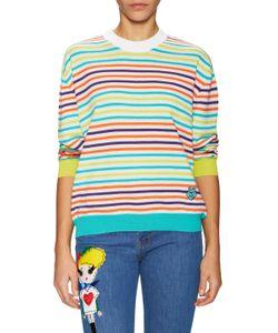 Love Moschino   Striped Drop Shoulder Sweater