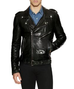 Blk Dnm | Leather Motorcycle Jacket