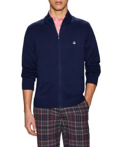 Brooks Brothers | Solid Supima Zip Front Sweater