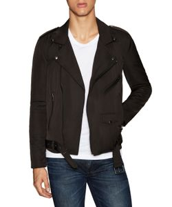 Blk Dnm | Belted Motorcycle Jacket