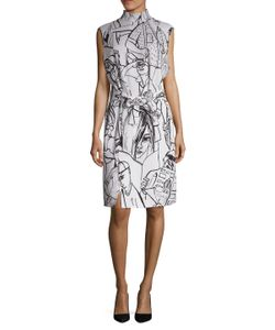 Emilio Pucci | People Print Tie Knee Length Dress