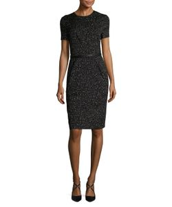 Narciso Rodriguez | Cotton Jacquard Draped Sheath Dress