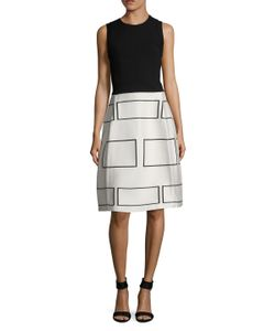 Narciso Rodriguez | Wool Geometric Jacquard A-Line Dress