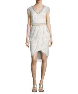 Marchesa Notte | Embroide High Low Sheath Dress