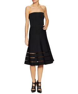 Ohne Titel | Perforated Strapless Midi Dress
