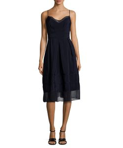 Timo Weiland | Tennessee Sheer Panel A Line Dress